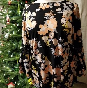 Ruby Rd. Floral blouse